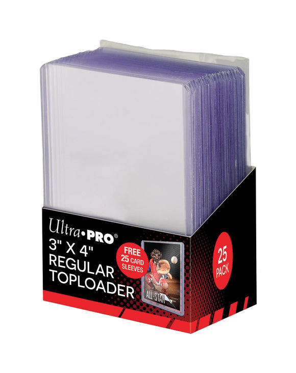 Ultra Pro 3 X 4 Regular Clear Toploader with Card Sleeves 25ct