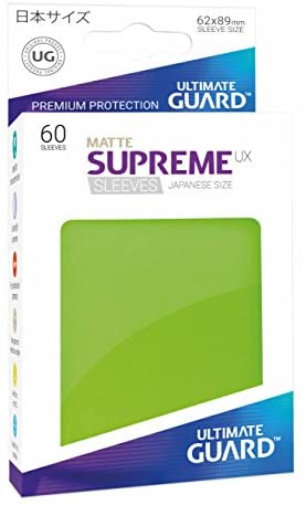 Ultimate Guard Supreme UX Sleeves, Japanese Size, Matte Light Green, 60 Piece