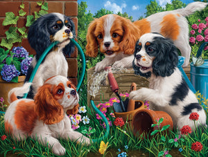 Pups in the Garden 1000 pc