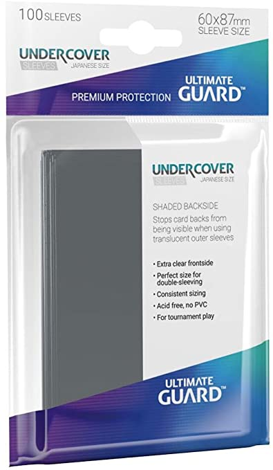 Ultimate Guard Undercover Sleeves Japanese Size Card Game (100 Pack)