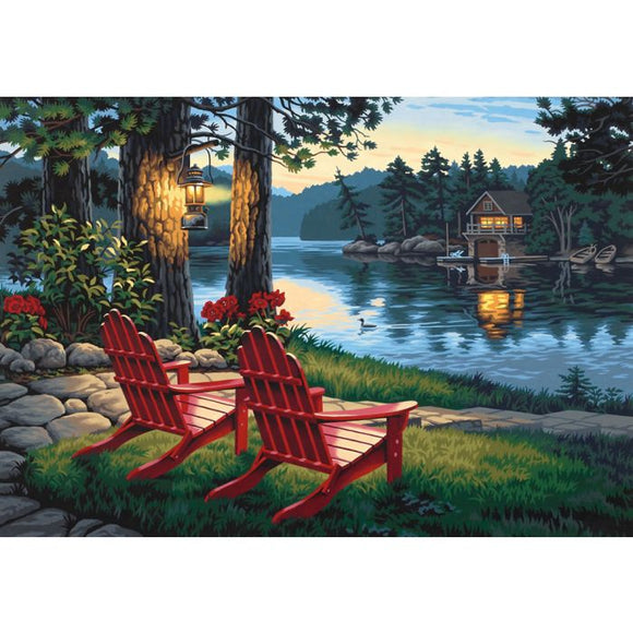 Adirondack Evening Paint by Number Kit by PaintWorks Dimensions