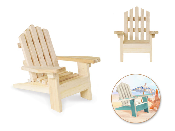 Wood Craft: 9x11.5x9.5cm DIY Mini Adirondack Chair