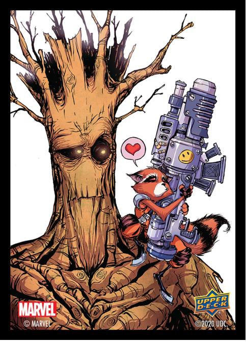 STANDARD SIZE SLEEVES  -  MARVEL  -  ROCKET AND GROOT (65)