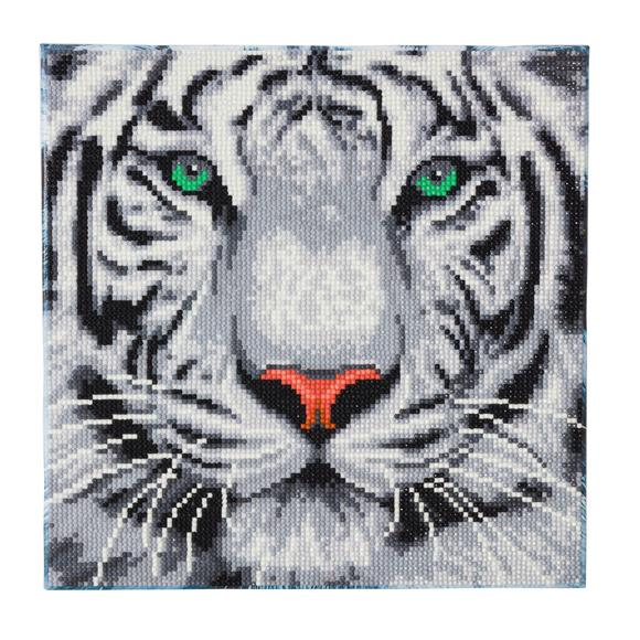Craft Buddy Crystal Art Kit Snow Tiger 30 x 30 cm Pre-Framed 5D Art Kit