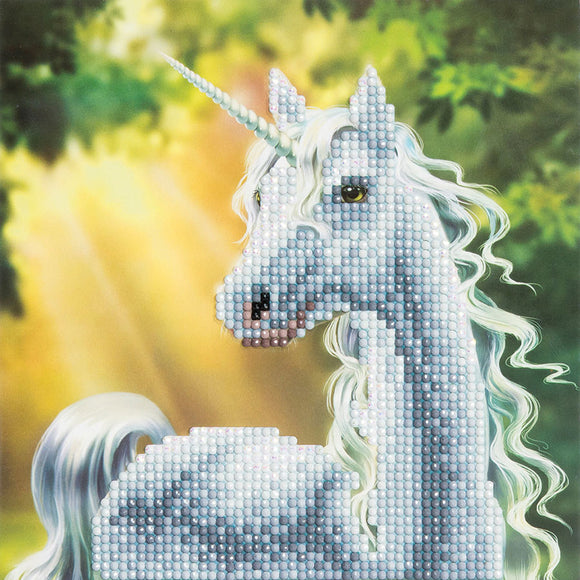 Craft Buddy Crystal Art Kit Sunshine Unicorn 30 x 30 cm Pre-Framed 5D Art Kit