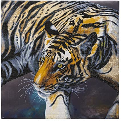 Craft Buddy Crystal Art Kit The Tiger 70 x70 cm Pre-Framed 5D Art Kit
