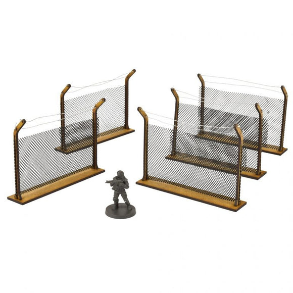 The Walking Dead Chain Link Fences Scenery Set