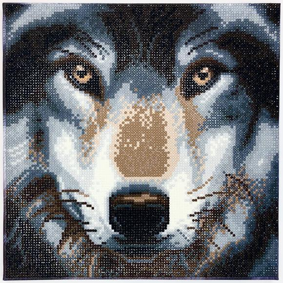 Craft Buddy Crystal Art Kit Wolf 30 x 30 cm Pre-Framed 5D Art Kit