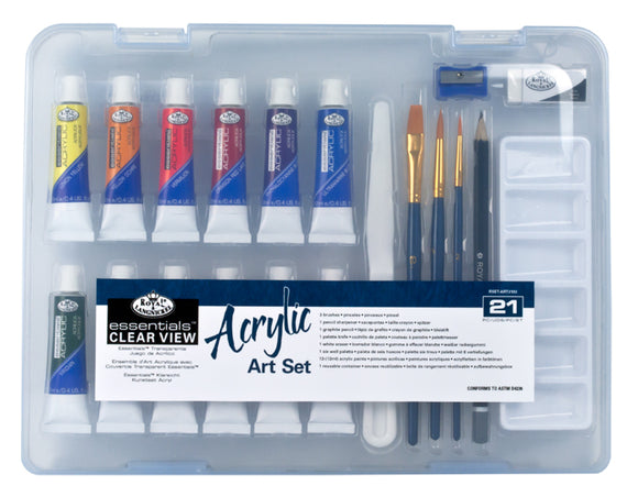 RSET-ART3103 - SM CLEAR CASE ACRYLIC PAINT SET