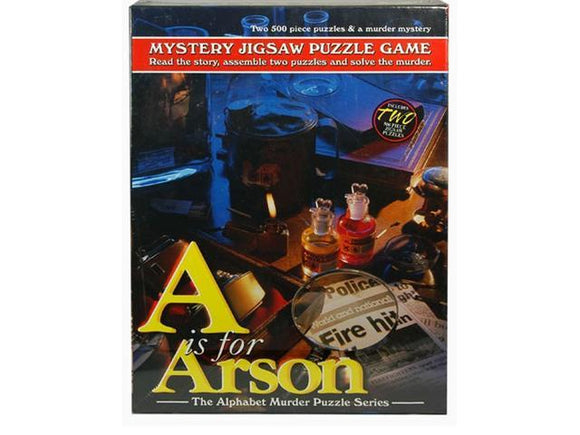Mystery Jigsaw Puzzle Game - A is for Arson