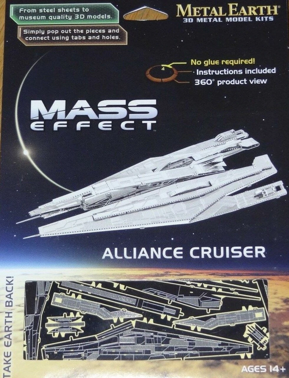 Metal Earth Alliance Cruiser Mass Effect