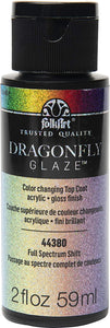 Plaid FolkArt Dragonfly Glaze 2 oz. Full Spectrum
