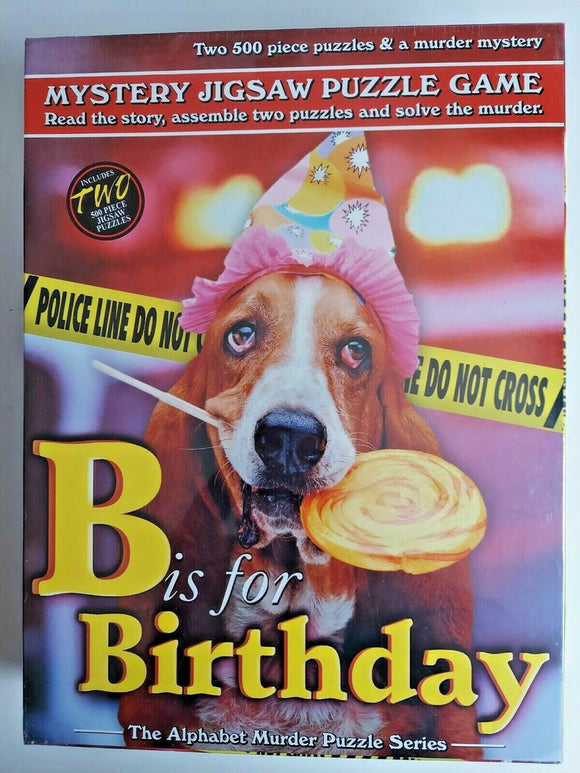 500 pcs - Mystery Jigsaw Puzzle - B is for Birthday