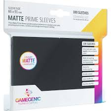 Black 100ct Matte Prime Sleeves GG Standard Size