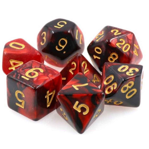 DRAGON'S DICE - 7CT Blood Pact - 16MM DICE SET