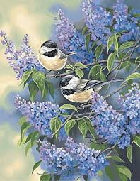 Paintworks® Chickadees & Lilacs Paint-by-Number Kit