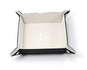 Folding Square Tray w/ Cream Velvet