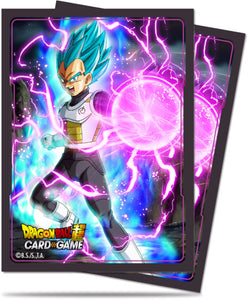 Dragon Ball Super Standard Size Sleeves 65ct God Charge Vegeta