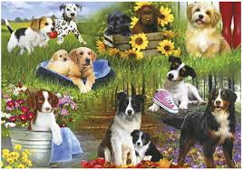DOGS 24 EXTRA-LARGE PIECE PUZZLES