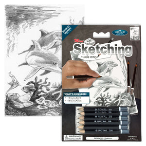 Royal & Langnickle DOLPHINS MINI SKETCHING MADE EASY