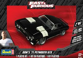 Dom's '71 Plymouth GTX 2'N1 Scale: 1/24 Product number: 85-4477