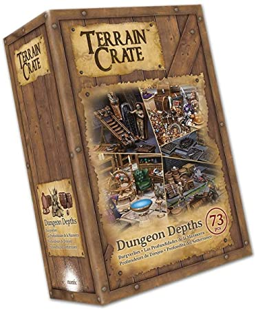 Terrain Crate Environment Miniatures Dungeon Depths 73pcs