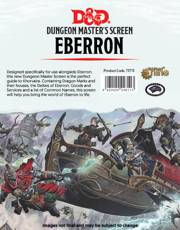 EBERRON  -  DUNGEON MASTER'S SCREEN - RISING FROM THE LAST WAR (ENGLISH)
