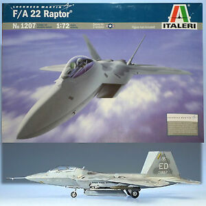 ITALERI 1/72 LOCKHEED F/A-22 RAPTOR MODEL KIT NO 1207