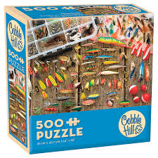 Cobble Hill Fishing lures 500 pc Puzzle