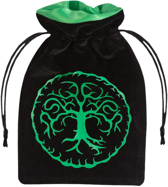 Black Forest and Green Velvet Dice Bag