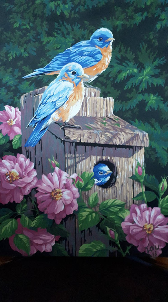 Paintworks® Garden Bluebirds Paint-by-Number Kit
