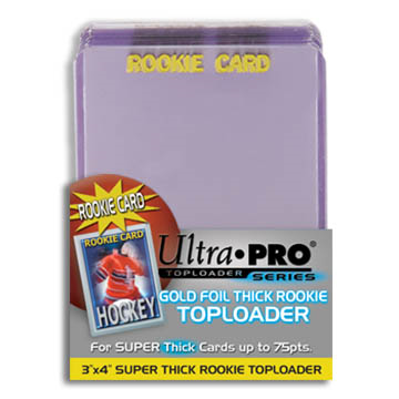 Ultra Pro Topload 3X4 Rookie Gold 75pt Thick 25ct