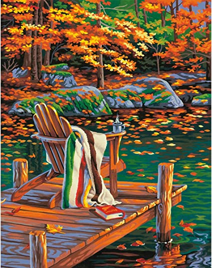 Paintworks® Golden Pond Paint-by-Number Kit