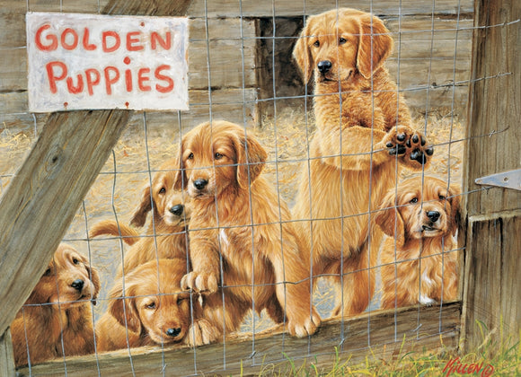 500pc Puzzle Cobble Hill Golden Puppies