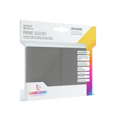 Dark Gray 100ct Prime Sleeves GG Standard Size
