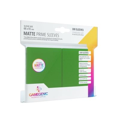 Green 100ct Matte Prime Sleeves GG Standard Size
