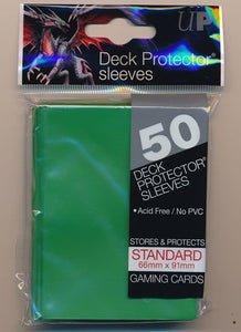 Ultra Pro 50ct Solid Green standard Sleeves