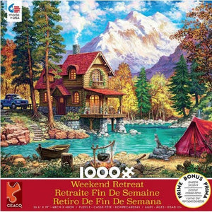 ‎ Ceaco House in Forest Weekend Retreat Jigsaw Puzzle - 1000pc