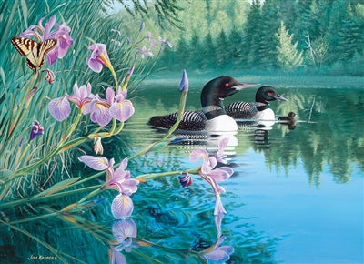 500pc Puzzle Cobble Hill Iris Cove Loons