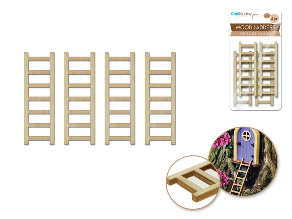 Laser-Cut Wood Ladders - 4