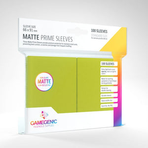 Lime 100ct Matte Prime Sleeves GG Standard Size