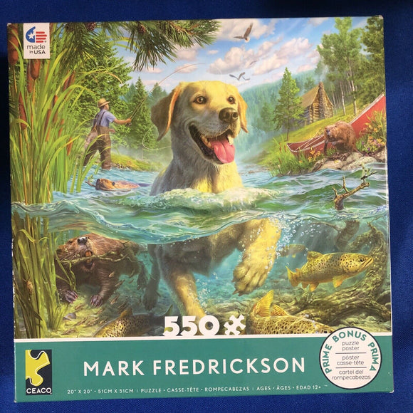 MARK FREDRICKSON -  Gone Fishing LAB - 550 PIECE PUZZLE
