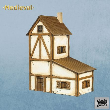 Plast Craft Games - Two-storey Medieval House