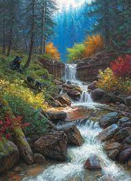 Cobble Hill Mountain Cascade 1000 pc Puzzle