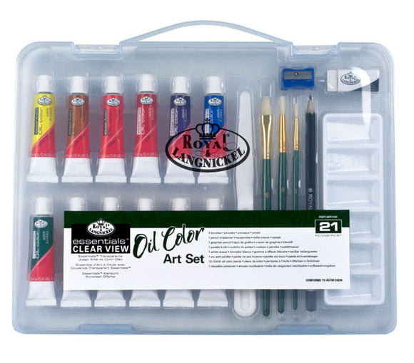 RSET-ART3101 - SM CLEAR CASE OIL PAINT SET