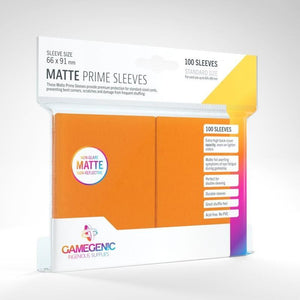 Orange 100ct Matte Prime Sleeves GG Standard Size