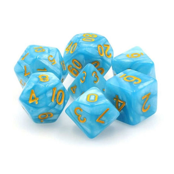 DRAGON'S DICE - 7CT Permafrost - 16MM DICE SET