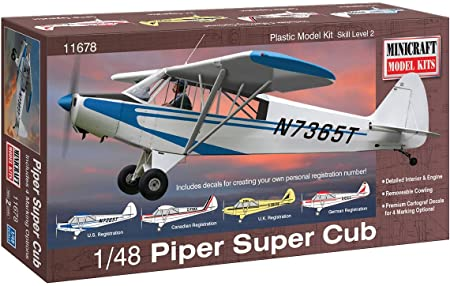 Piper Super Cub Minicraft Model Kits | No. 11678 | 1:48