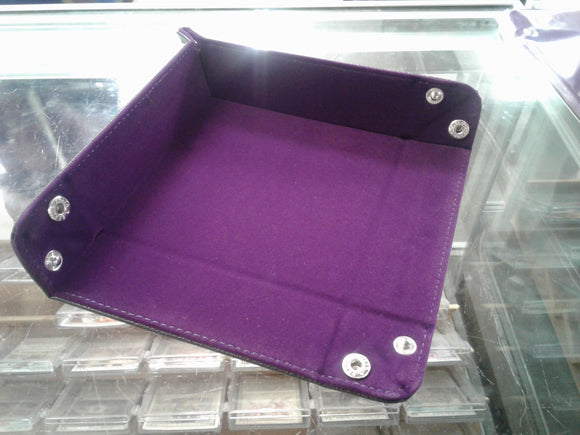 Folding Square Tray w/ Purple Velvet