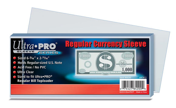 Ultra Pro Regular Currency Sleeve